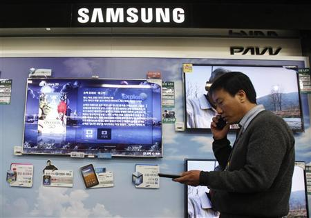 Samsung has eight per cent share.