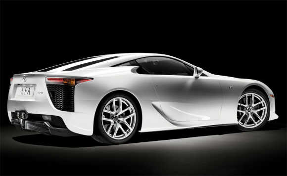 The production Lexus LFA features a new V10 engine.