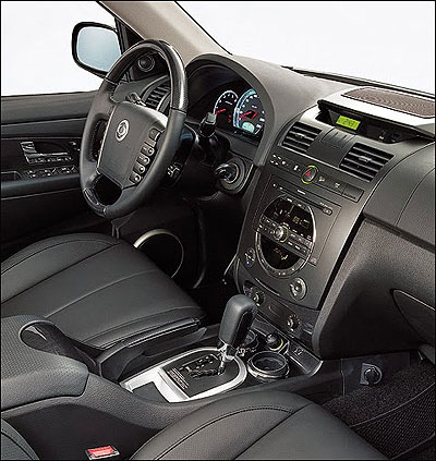 Interior view of Rexton.