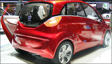 Rear view of Tata Megapixel.