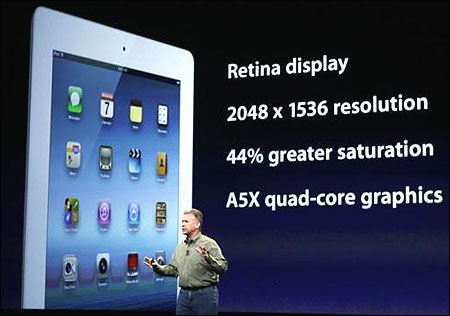 Apple's Phil Schiller senior vice president of Worldwide Marketing speaks about the new iPad.