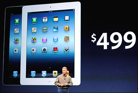 Schiller talks about pricing for the new iPad.