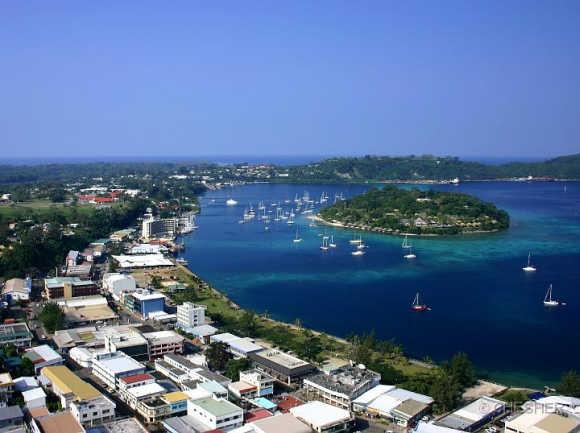 A view of Vanuatu.