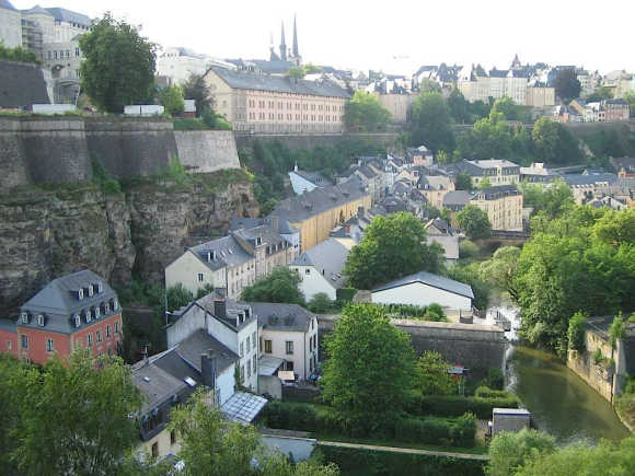 A view of Luxembourg city.