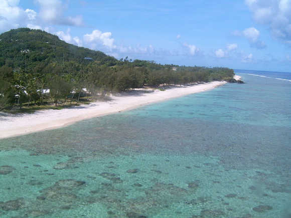 A view of Cook Islands.