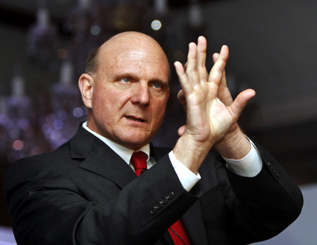 Microsoft Chief Executive Officer (CEO) Steve Ballmer.