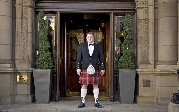 The Tartan butler.