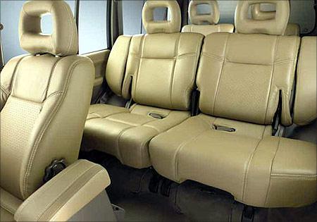 Pajero Sport interiors.