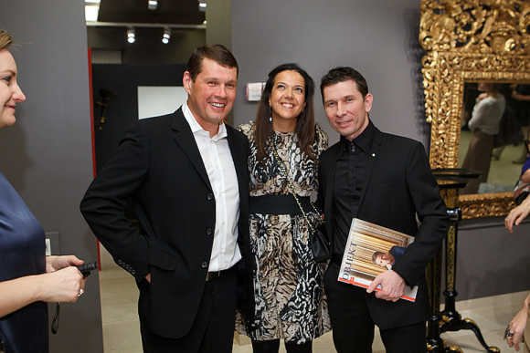 Alexander Svetakov, left, with Christina Krasnyanskaya and Alexander Fedotov.