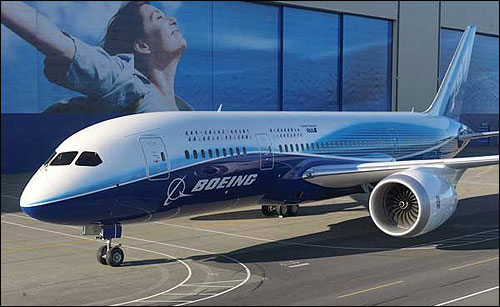 Staircase of Boeing Dreamliner 787.