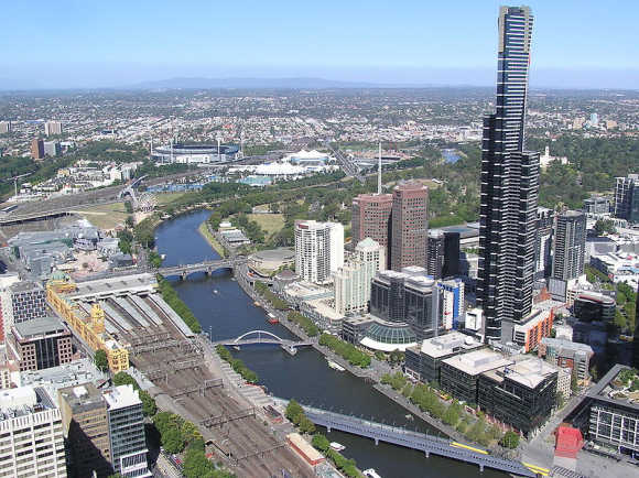 A view of Melbourne.