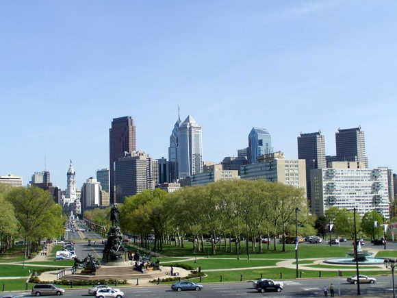 A view of Philadelphia.