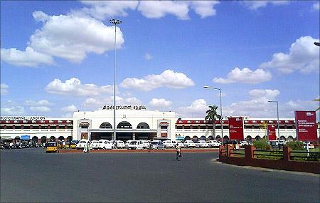Tiruchirapalli railway station.