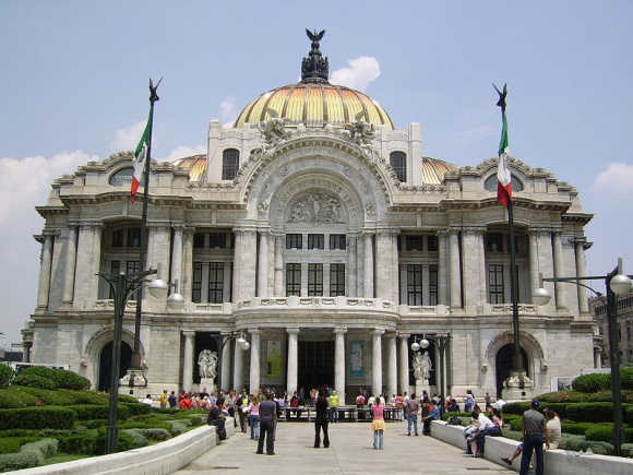 A view of Mexico City, capital of Mexico.