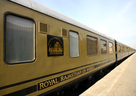 A view of the new luxury train Royal Rajasthan on Wheels.