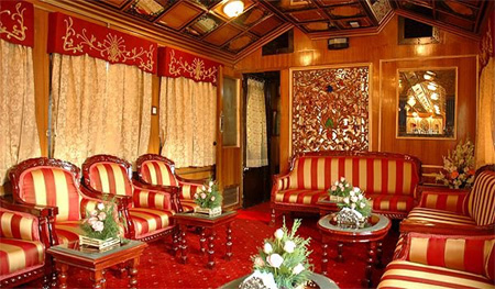 Interiors of the Palace on Wheels.