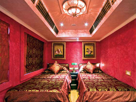 Interiors of Palace on Wheels.