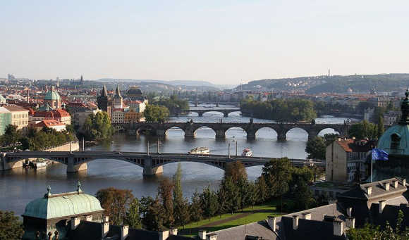 A view of Prague.