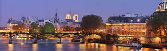 A view of Paris at night.