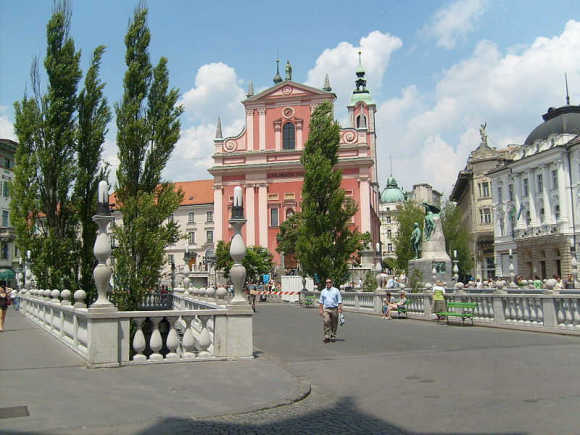 A view of Ljubljana.