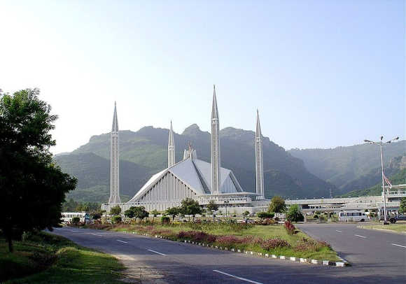 A view of King Faisal Mosque in Islamabad.
