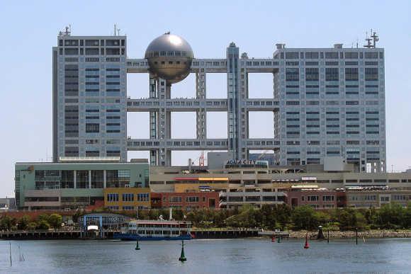 Fuji TV headquarters in Tokyo.