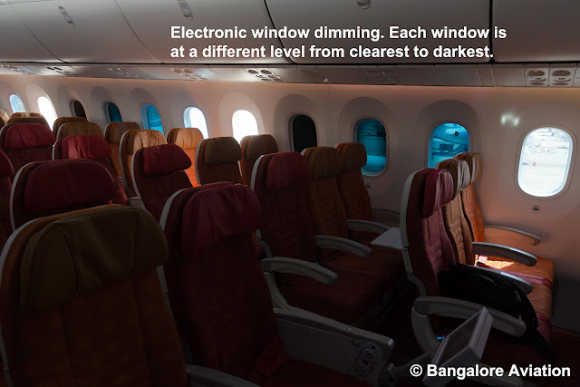 Stunning interiors of Boeing's 787 Dreamliner