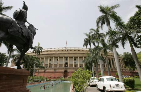 A view of Indian Parliament building.