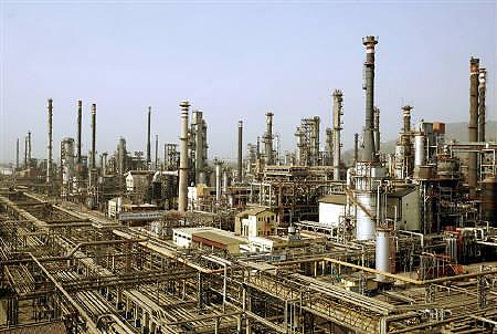A view of Bharat Petroleum Corporation refinery is seen in Mumbai.