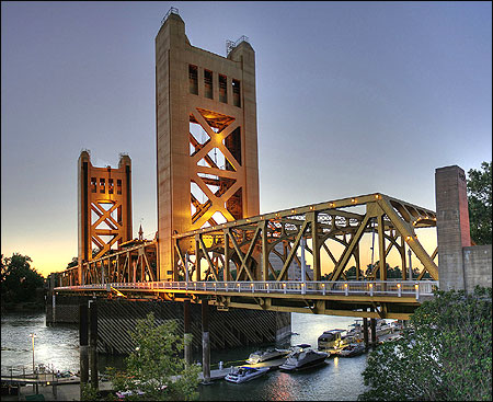 Tower Bridge Sacramento, California.