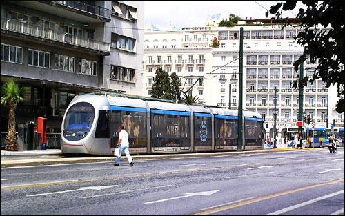 Athens tram.