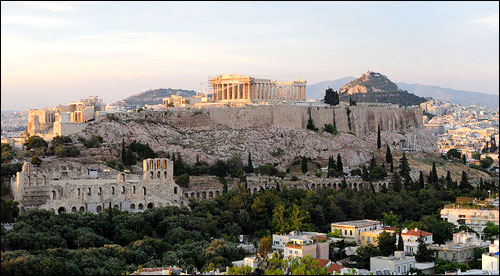 The Acropolis as viewed from the Mouseion Hill.