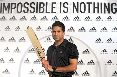 Sachin promotes Adidas.
