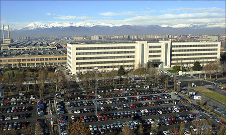 A general view of Fiat's Mirafiori car factory is seen in Turin.