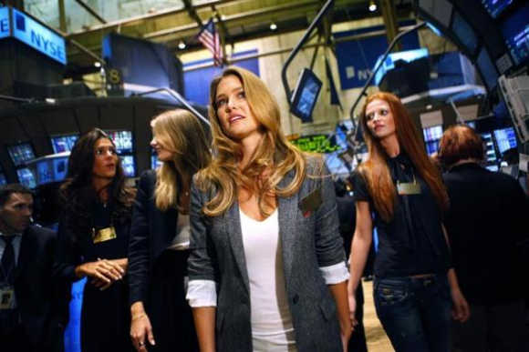 Hollywood stars and models grace Wall Street