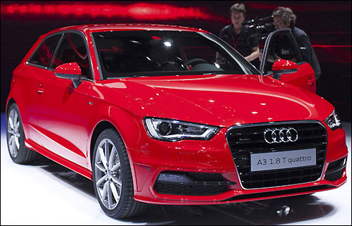 The next generation of the premium compact Audi A3 was the highlight of the German automaker's display.