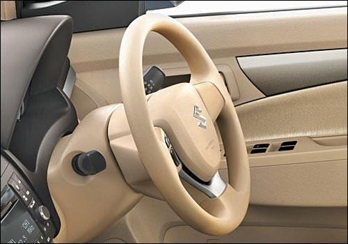 Maruti Ertiga steering wheel.