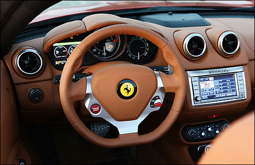 Dashboard of Ferrari California.