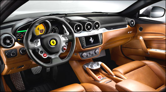 Interior view of Ferrari FF.