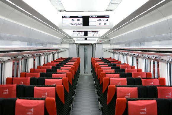 Stunning photos of Japan's luxurious, superfast train