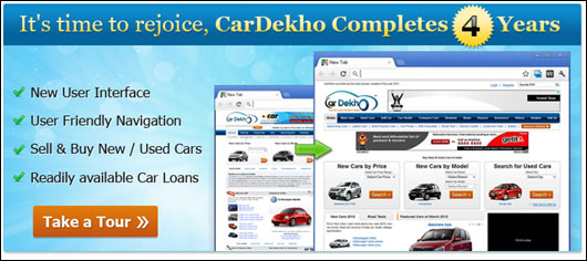 CarDekho.com turns 4, comes out with a facelift