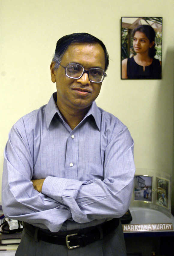 Murthy's first job position was at IIM Ahmedabad.