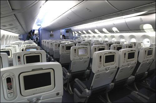 Dreamliner cabin.