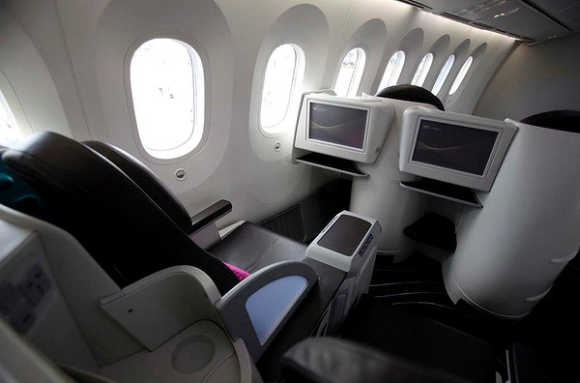 A view inside the aircraft.