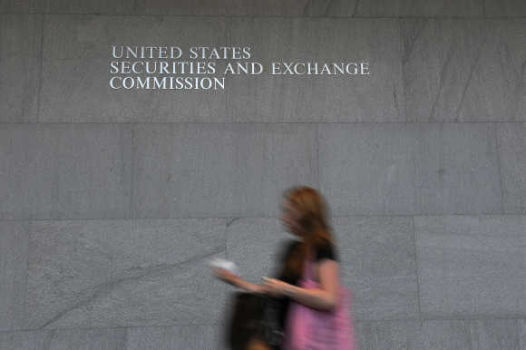 A view of Securities and Exchange Commission in the US.