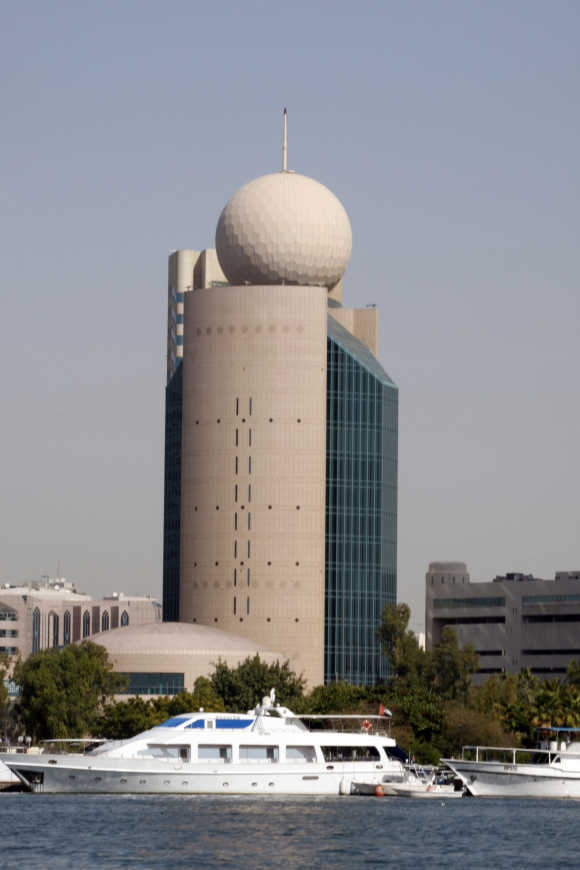 A view of an Etisalat building in Dubai.