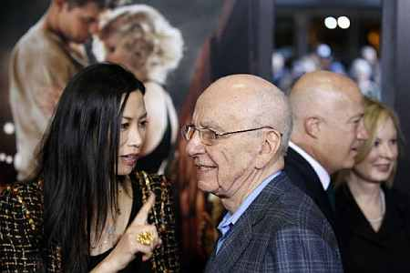 Rupert Murdoch with his wife, Wendi Deng