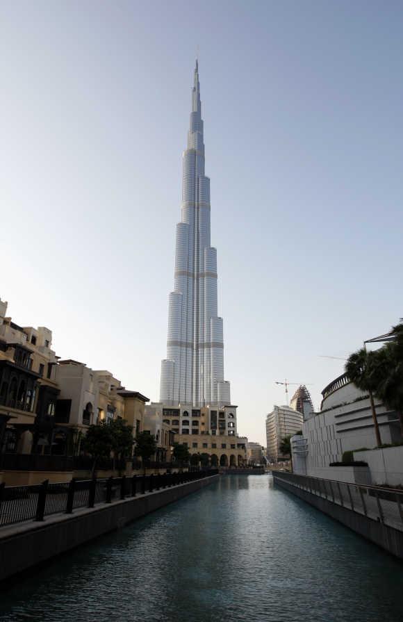 A view of Dubai's Burj Khalifa, the tallest building in the world.
