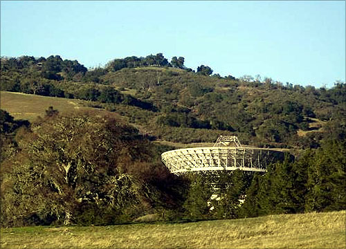 The Jamesburg Earth Station is seen in Cachagua Valley, near Carmel, California.