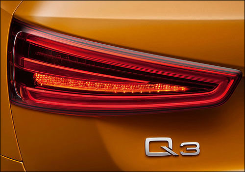 Audi Q3 tail light.